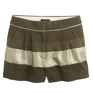 J. Crew Collection Metallic Eyelet Trouser Short